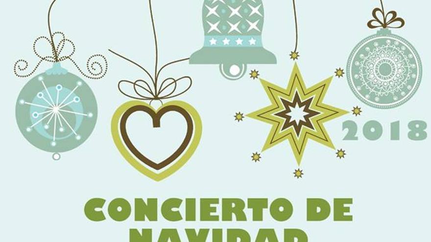 Cartel del concierto de Navidad.