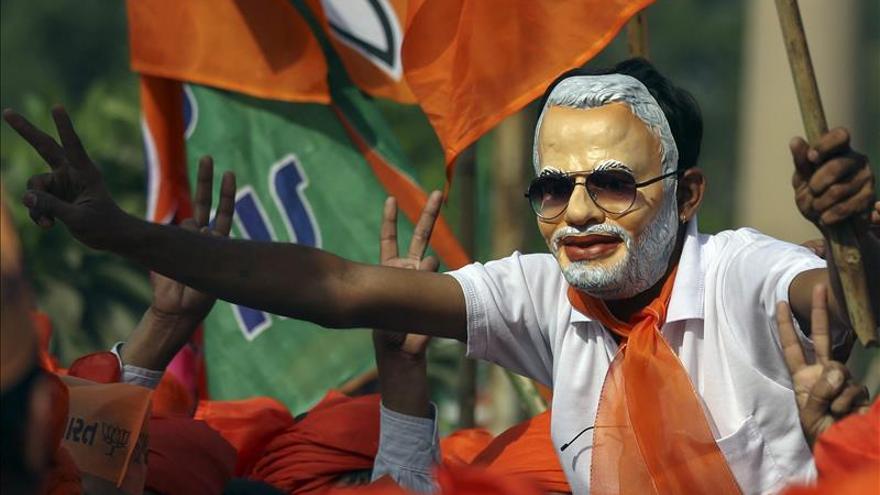 La India celebra una nueva jornada electoral con votaciones en cuatro estados