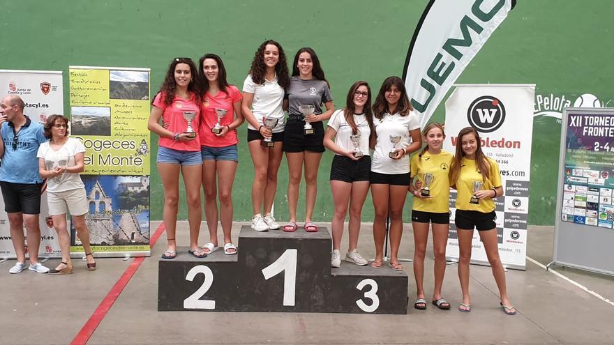 Podio femenino de la competición celebrada en Valladolid