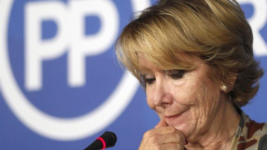 """Aguirre cuestiona el retraso """"tremendo"""" en la celebración de congresos del PP"""