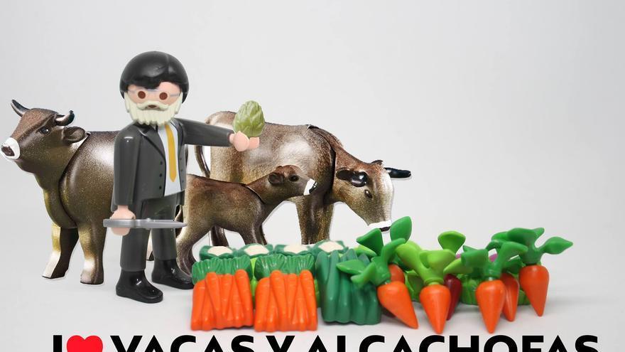 I love vacas y alcachofas