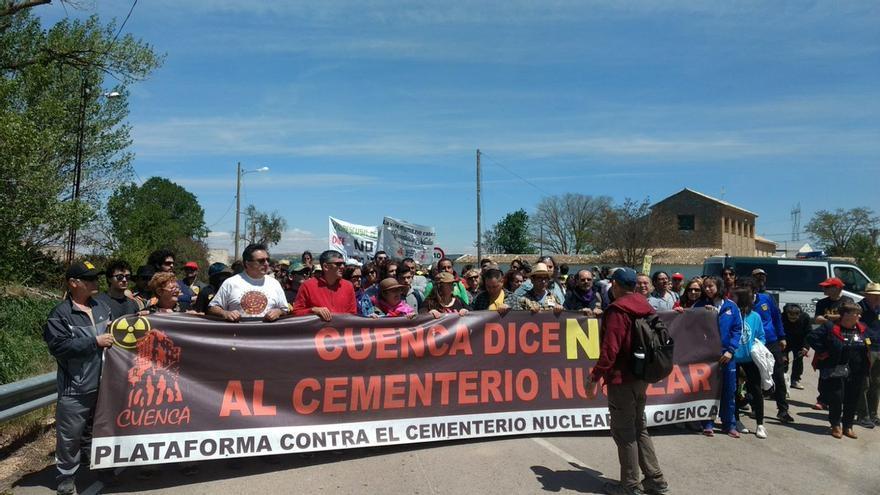 9 marcha contra el ATC en Villar de Cañas