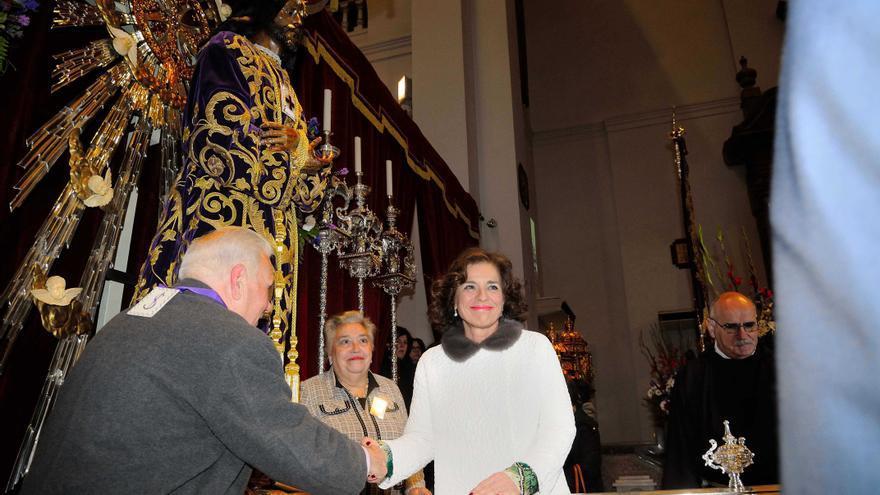 Botella, en su visita al Cristo de Medinaceli / Ayuntamiento de Madrid