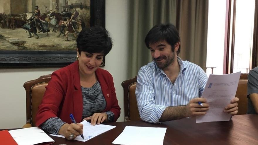 Gobierno foral y Ayuntamiento de Tudela firman un convenio que garantiza la subvención al Conservatorio Fernando Remacha