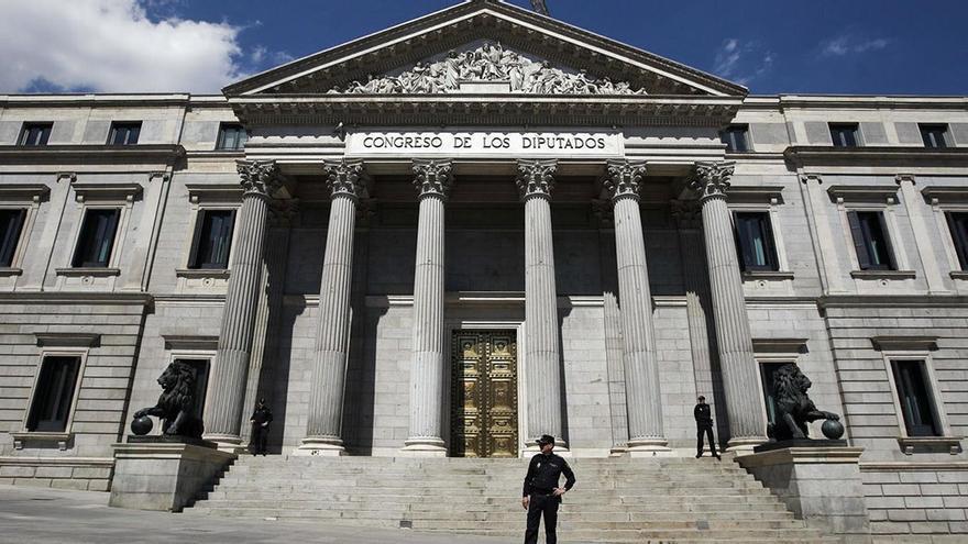 Exterior del Congreso de los Diputados. (EFE).