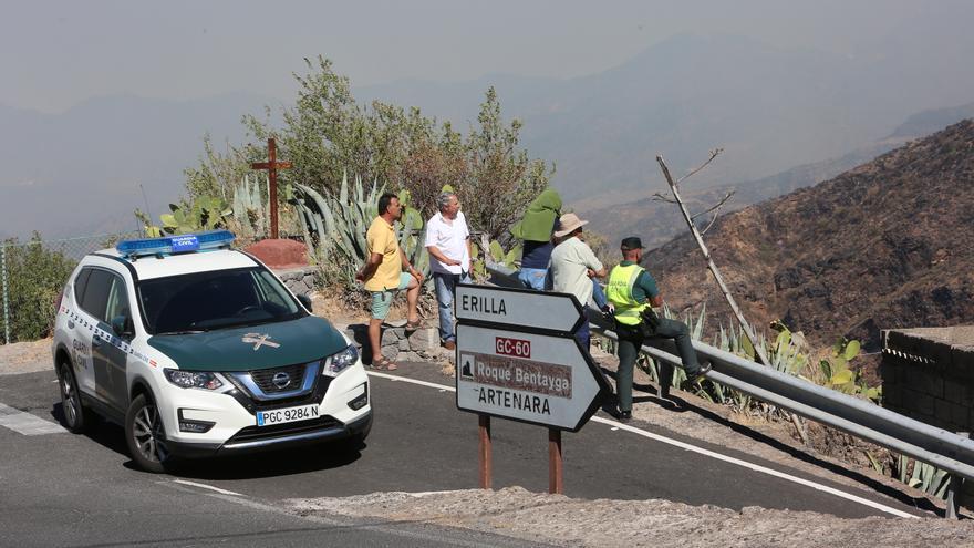Corte de carreteras en Gran Canaria por el incendio