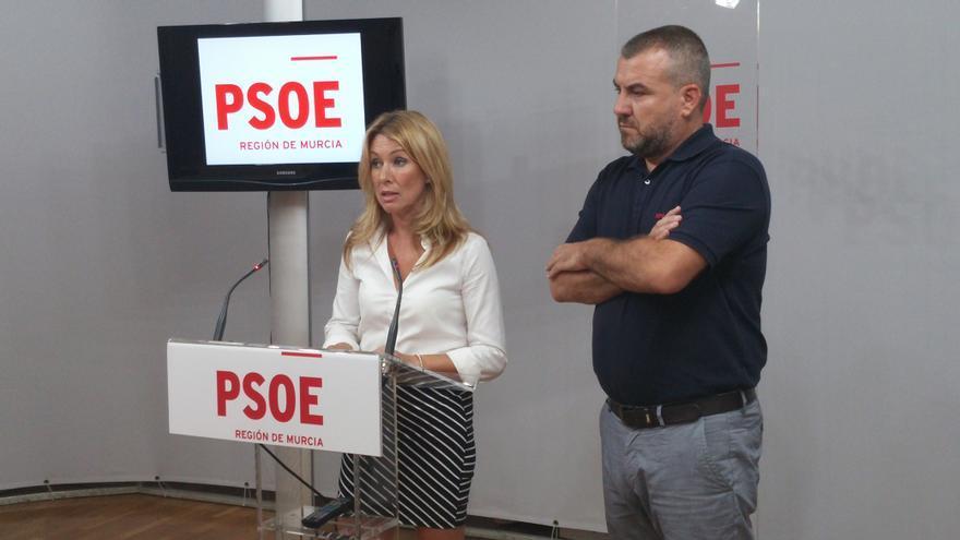 María José Pérez Cerón, alcaldesa de Campos del Río, y Blas Ángel Ruipérez, alcalde de Alguazas