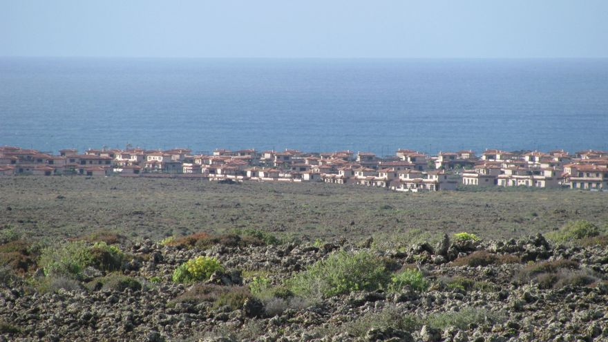 La urbanización Origo Mare, en Majanicho (Fuerteventura).