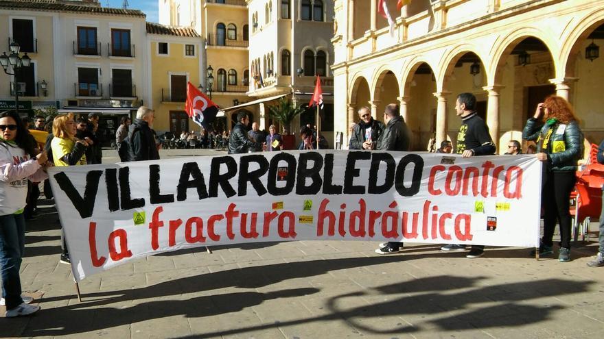 Manifestación contra el fracking en Villarrobledo