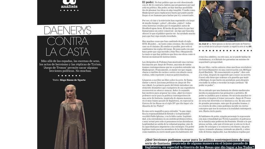 'Daenerys contra la casta', por Iñigo Sáenz de Ugarte
