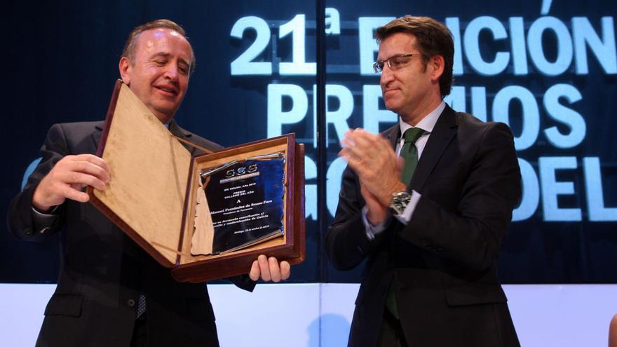 Feijóo le entrega un premio al ex presidente de Pescanova en 2010 / Ana Varela