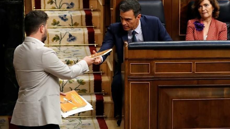 """Rufián a Sánchez e Iglesias: """"Se van a arrepentir de lo de hoy"""""""