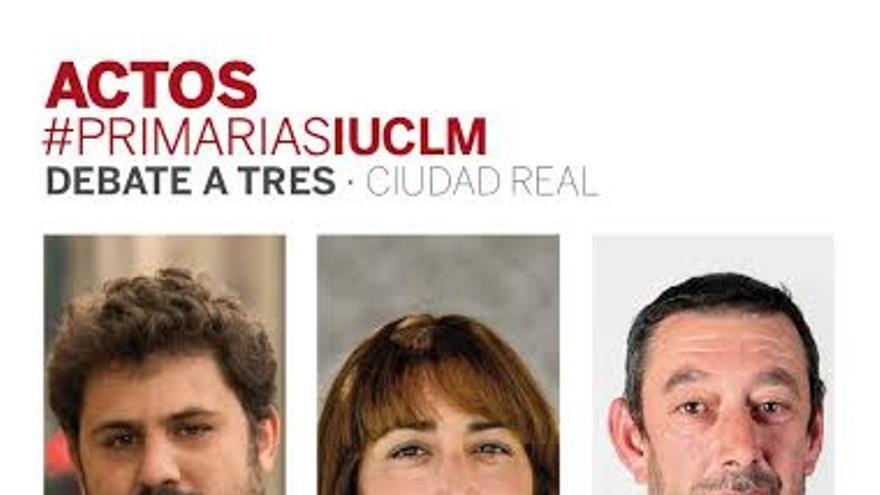 Cartel primarias IU en Castilla-La Mancha