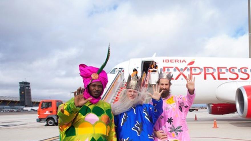 Los Magos de Oriente llegan a Madrid en avión para evitar sufrimiento a los tradicionales camellos. Foto: Ayuntamiento de Madrid
