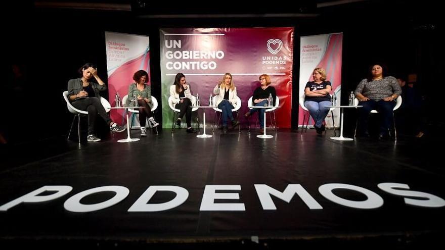 Un momento del acto Diálogos feministas con coletivos sociales.