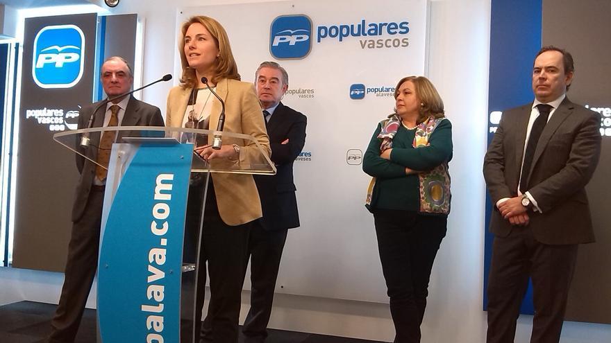 """Quiroga (PP) pide a Urkullu que actúe """"con altura de miras"""" y no intente """"rentabilizar el final de ETA"""""""