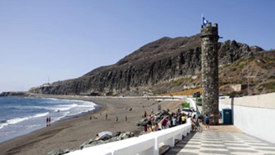 Playa de La Laja, en Las Palmas de Gran Canaria. (CANARIAS AHORA)