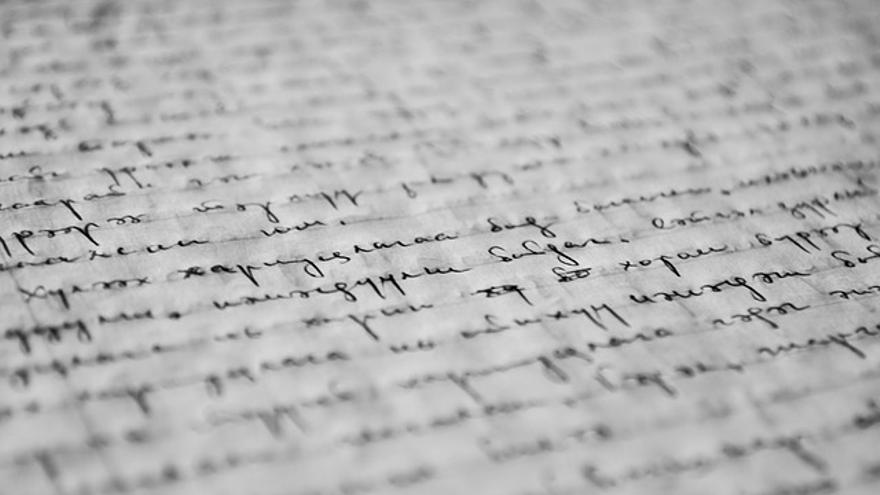 Imagen de archivo de un manuscrito.