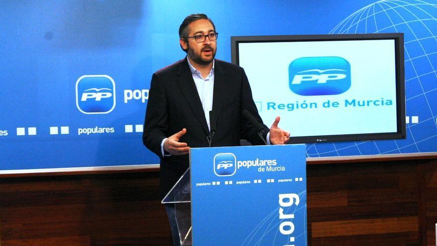 El portavoz regional del PP en Murcia, Víctor Martínez