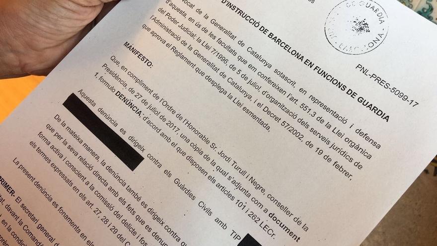 El Govern denuncia a la Guardia Civil por interrogar a altos cargos y trabajadores públicos de la Generalitat