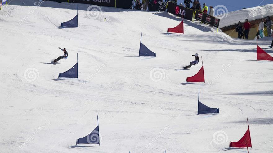 El slalom paralelo no incluye trucos,es velocidad pura.
