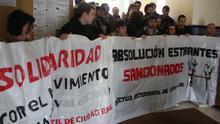 Estudiantes manifestándose en la UCLM en Ciudad Real