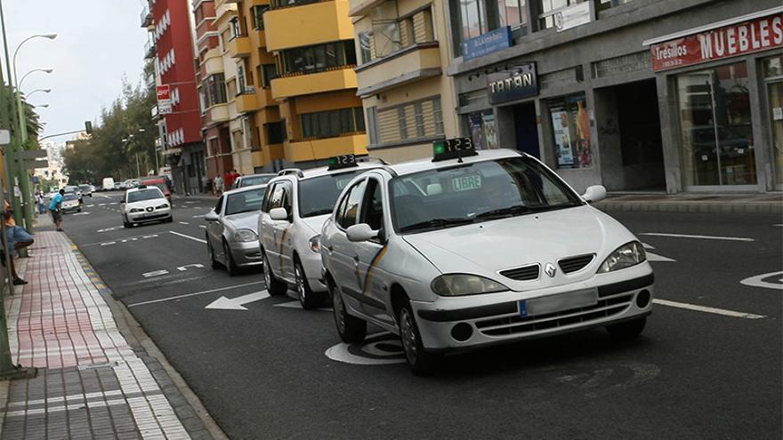Taxis en Las Palmas de Gran Canaria. (Archivo).