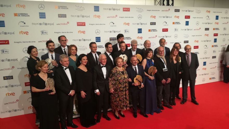 Foto de familia de los Premios Forqué 2018