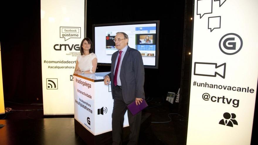 El director general de la RTVG, en un acto público