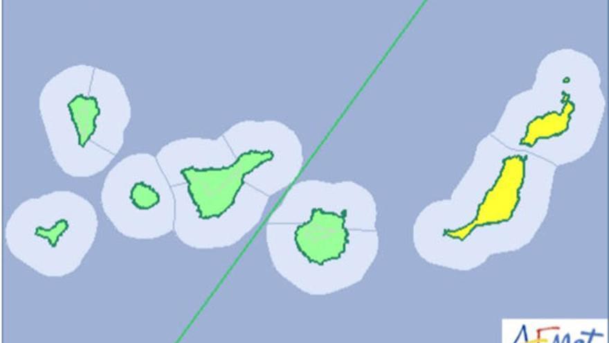 La Aemet activa el aviso amarillo en Fuerteventura y Lanzarote
