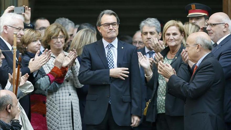 El presidente de la Generalitat, Artur Mas, a la salida del TSJC el pasado jueves tras declarar por el 9-N