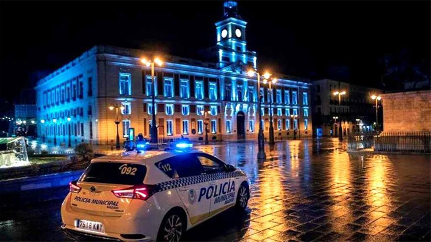 La Puerta del Sol, vacía en Madrid