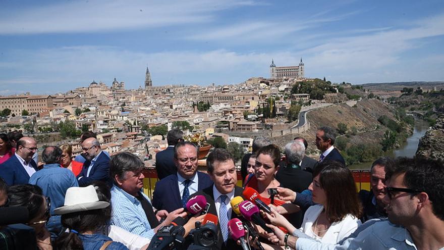 García-Page, este 1 de Mayo, durante la tradicional Romería del Valle de Toledo
