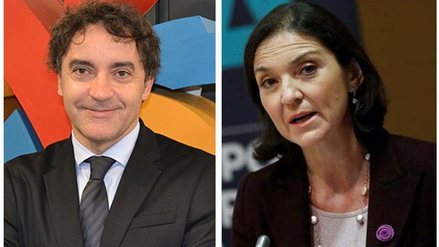 El secretario autonómico de Turismo, Francesc Colomer, y la ministra Reyes Maroto.