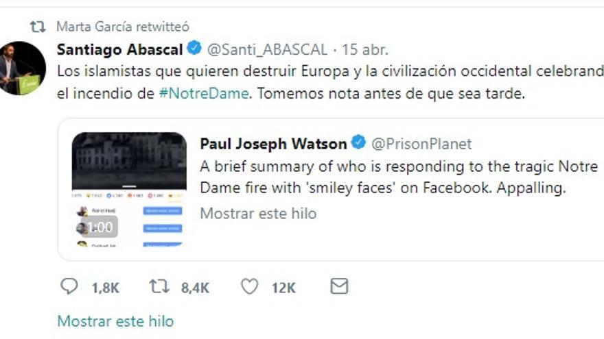 Retuit a comentario de Abascal