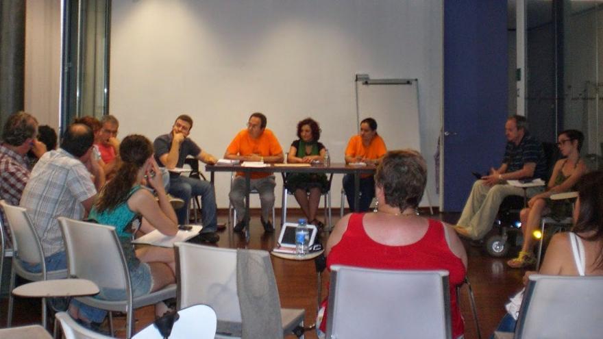 Un momento de la reunión de la Coordinadora de Plataformas de la Dependencia del País Valencià