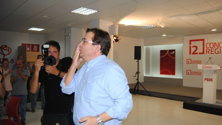 Fernández Vara, tras conocer el resultado de las votaciones / JCD