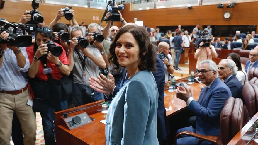 Isabel Díaz Ayuso en el pleno de investidura. / PP