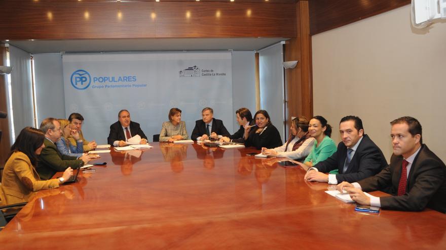 Reunión del grupo popular de Castilla-La Mancha con Mª Dolores de Cospedal
