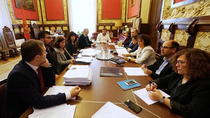 Varios concejales del Ayuntamiento de Valladolid en una imagen de archivo.