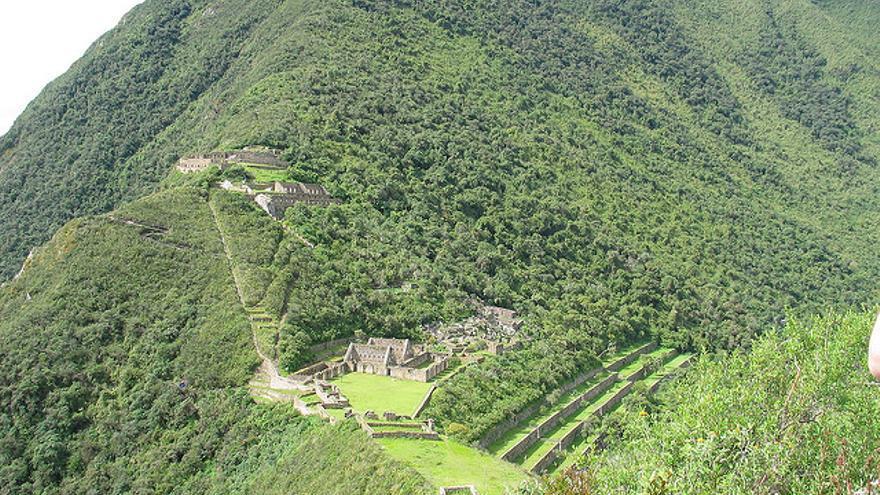 Vista general de la ciudad inca de Choquequirao. Brian Dougherty