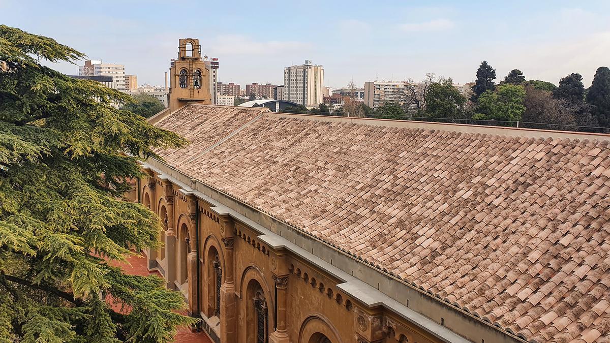Vista de l'església dels Jesuïtes de València.