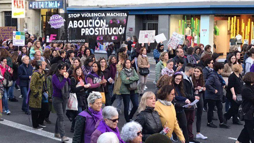 Un momento de la manifestación del 8M en Madrid