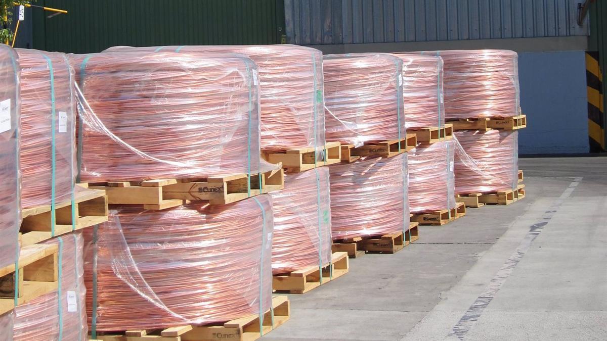El cobre y sus manufacturas son el segundo producto más exportado por Córdoba, tras el aceite de oliva, en el primer cuatrimestre de 2021.