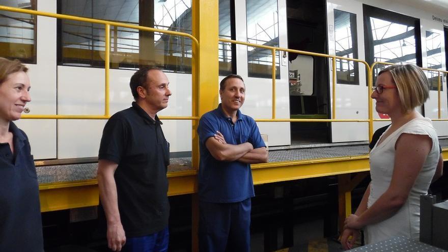 La consellera María José Salvador ha visitado las instalaciones de FGV