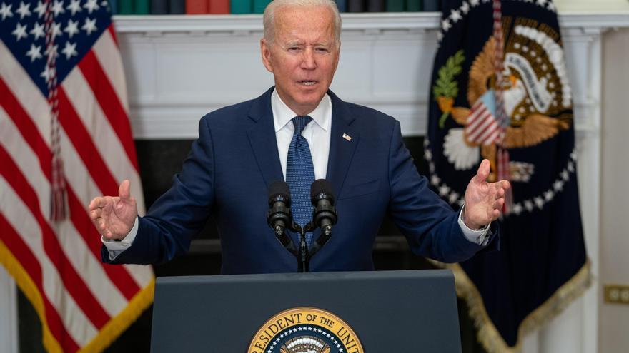 El presidente estadounidense, Joe Biden, habla en conferencia de prensa en la Casa Blanca, en Washington