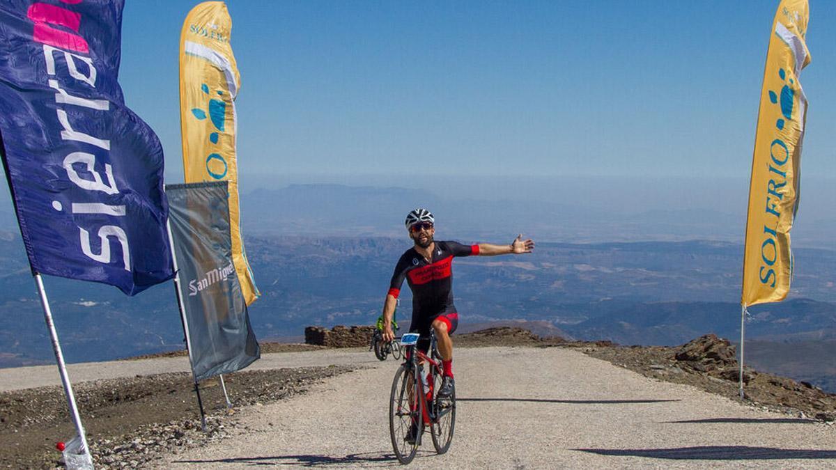 Francisco Pozo, en la Subida Cicloturista al Pico Veleta