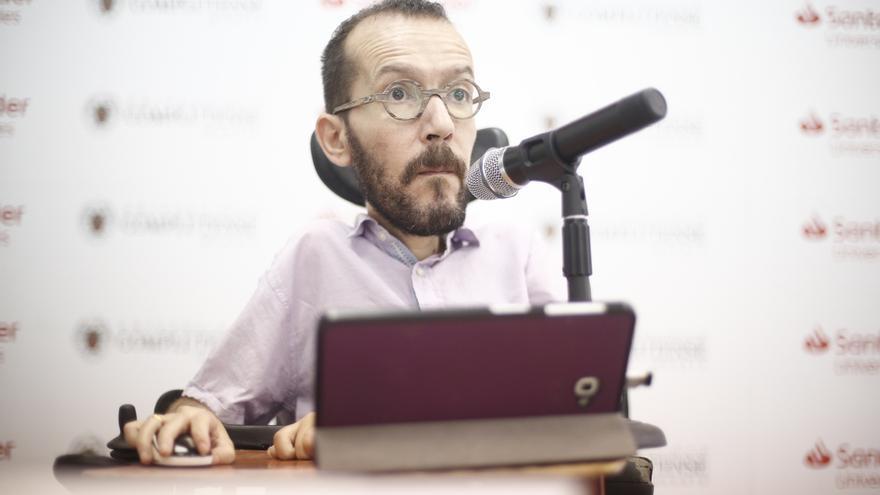 """Echenique dice que el veto a Iglesias es un """"precedente antidemocrático peligroso"""" y busca que Podemos vote no"""