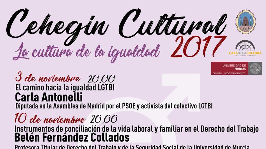 """Cartel conferencias """"Cehegín Cultural"""""""