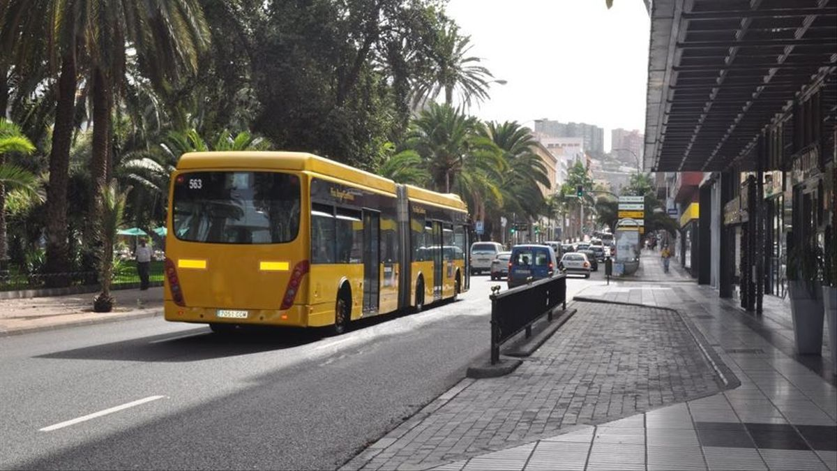 Guaguas municipales en Las Palmas de Gran Canaria